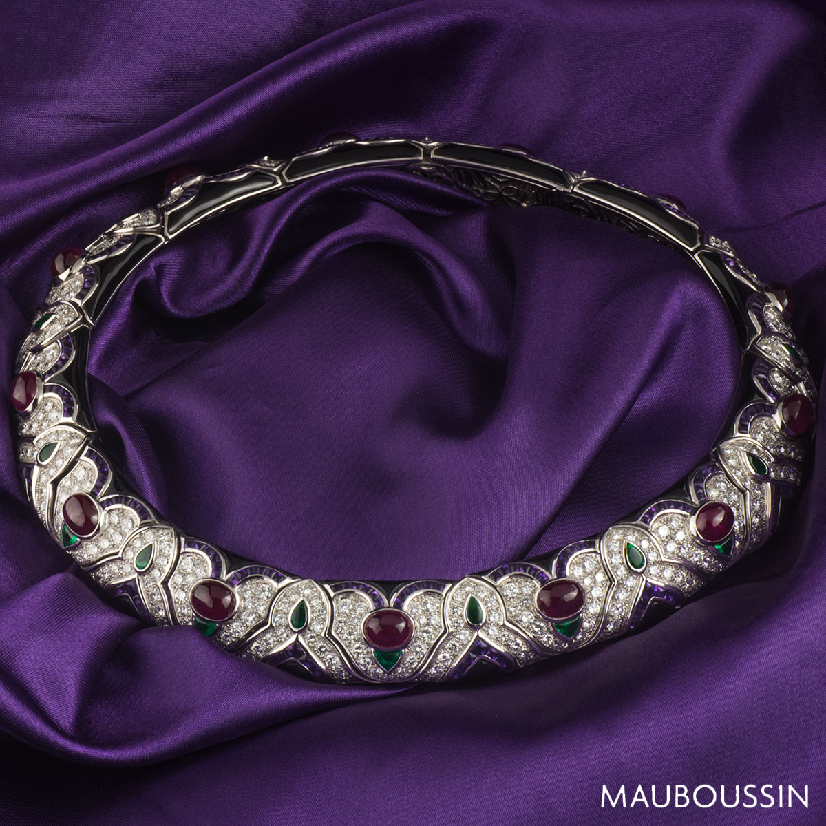 Mauboussin White Gold Multi-Gemstone Necklace